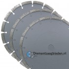 3x diamantschijf diameter 350mm Universeel lasergelast